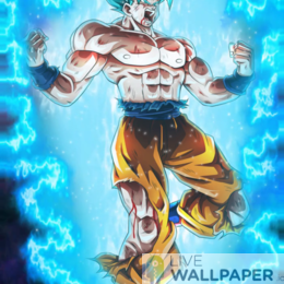 SSJ Blue Live Wallpaper - a cool phone background.