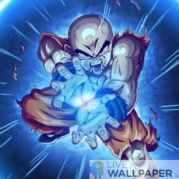 Krillin Live Wallpaper - a cool phone background.