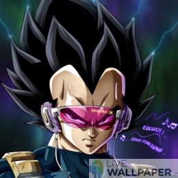 Fancy Vegeta Live Wallpaper - a cool phone background.