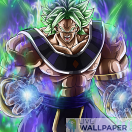 Broly God Live Wallpaper - a cool phone background.