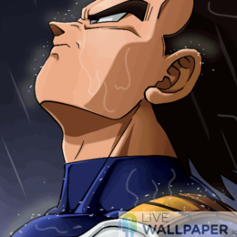 Vegeta in Rain Live Wallpaper - a cool phone background.