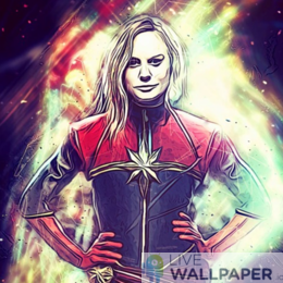 Captain Marvel Live Wallpaper - a cool phone background.