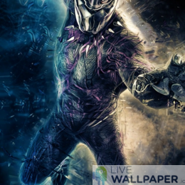 Fantastic Black Panther Live Wallpaper - a cool phone background.