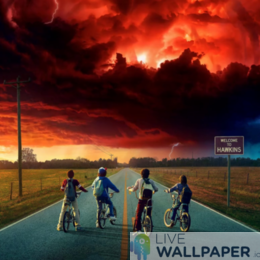 Stranger Things Live Wallpaper Collection - a cool phone background.