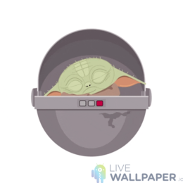 Baby Yoda GIF Live Wallpaper Pack - a cool phone background.