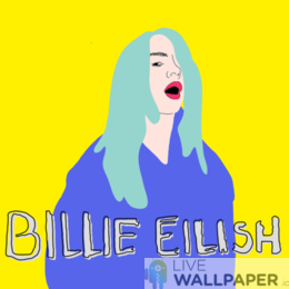Billie Eilish GIF Live Wallpaper Pack - a cool phone background.