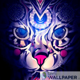 Ancient Cat Live Wallpaper - a cool phone background.