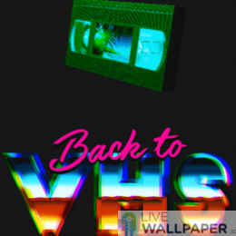 VHS GIF Live Wallpaper Pack - a cool phone background.