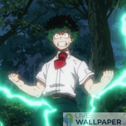 Izuku Midoriya GIF Live Wallpaper Pack - a cool phone background.