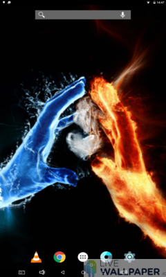 Fire and Water in Love Live Wallpaper - a cool phone wallpaper for Android - Screenshot #3