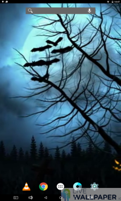 Spooky Halloween Live Wallpaper - a cool phone wallpaper for Android - Screenshot #1
