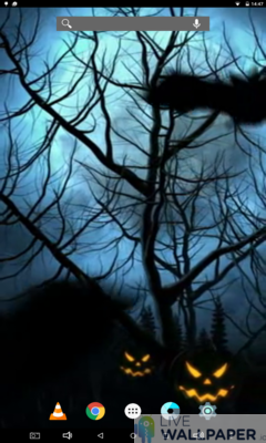 Spooky Halloween Live Wallpaper - a cool phone wallpaper for Android - Screenshot #2