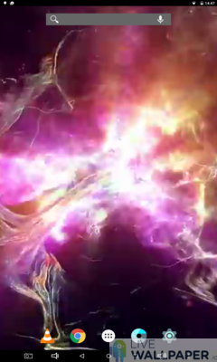 Electric Plasma Live Wallpaper - a cool phone wallpaper for Android - Screenshot #2