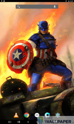 Captain America Live Wallpaper - a cool phone wallpaper for Android - Screenshot #2