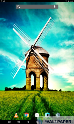 Calming Country Windmill Live Wallpaper - a cool phone wallpaper for Android - Screenshot #2