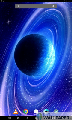 Magnificent Saturn Live Wallpaper - a cool phone wallpaper for Android - Screenshot #2