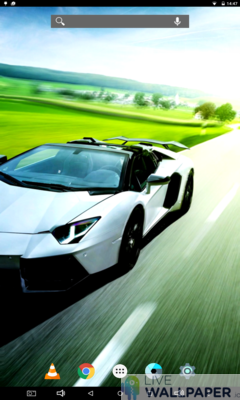 Lamborghini in Motion Live Wallpaper - a cool phone wallpaper for Android - Screenshot #1