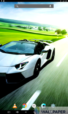 Lamborghini in Motion Live Wallpaper - a cool phone wallpaper for Android - Screenshot #2