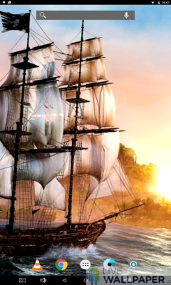 Pirate Ship Live Wallpaper - a cool phone wallpaper for Android - Screenshot #1