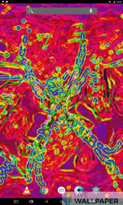 Psychedelic Spider Wallpaper - a cool phone wallpaper for Android - Screenshot #1