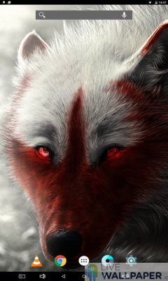 Lone Wolf Wallpaper - a cool phone wallpaper for Android - Screenshot #1