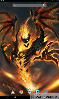 Evil Diablo Live Wallpaper - a cool phone wallpaper for Android - Screenshot #1