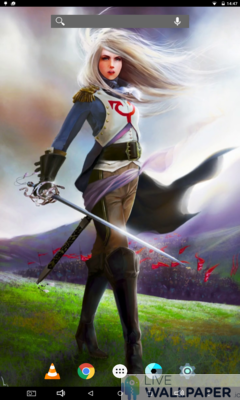 Fantasy Captain Girl Live Wallpaper - a cool phone wallpaper for Android - Screenshot #1