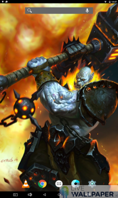 Fearsome Orc Live Wallpaper - a cool phone wallpaper for Android - Screenshot #1