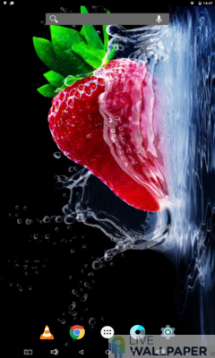 Strawberry Wallpaper - a cool phone wallpaper for Android - Screenshot #1