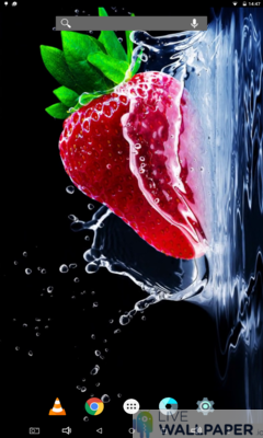 Strawberry Wallpaper - a cool phone wallpaper for Android - Screenshot #2