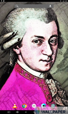 Animated Mozart Wallpaper - a cool phone wallpaper for Android - Screenshot #1