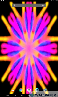 Vibrant Kaleidoscope Wallpaper - a cool phone wallpaper for Android - Screenshot #2