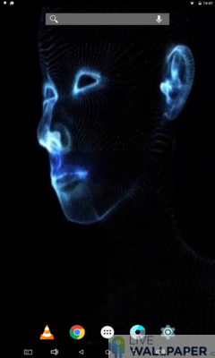 Face Glitch Live Wallpaper - a cool phone wallpaper for Android - Screenshot #1