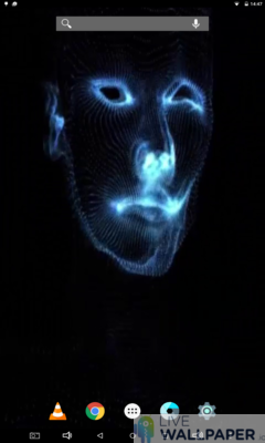 Face Glitch Live Wallpaper - a cool phone wallpaper for Android - Screenshot #3