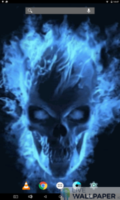 Mesmerizing Skull Live Wallpaper - a cool phone wallpaper for Android - Screenshot #1