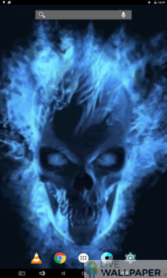 Mesmerizing Skull Live Wallpaper - a cool phone wallpaper for Android - Screenshot #3