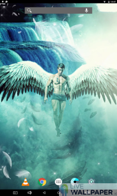 Male Angel Live Wallpaper - a cool phone wallpaper for Android - Screenshot #1
