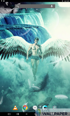 Male Angel Live Wallpaper - a cool phone wallpaper for Android - Screenshot #2