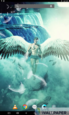 Male Angel Live Wallpaper - a cool phone wallpaper for Android - Screenshot #3