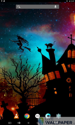 Halloween Witch Wallpaper - a cool phone wallpaper for Android - Screenshot #1