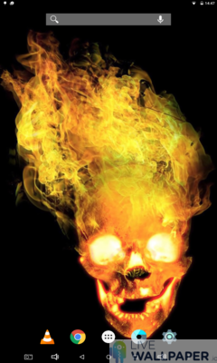 Fiery Skull Live Wallpaper - a cool phone wallpaper for Android - Screenshot #3