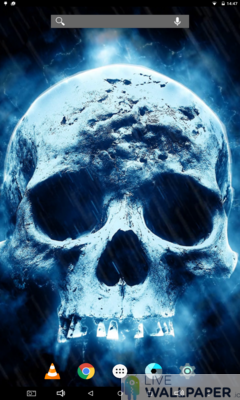 Creepy Skull Live Wallpaper - a cool phone wallpaper for Android - Screenshot #1