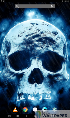 Creepy Skull Live Wallpaper - a cool phone wallpaper for Android - Screenshot #2