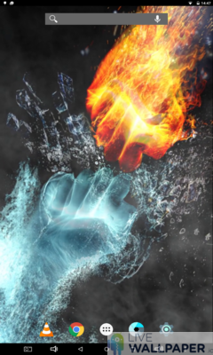 Fire and Ice Live Wallpaper - a cool phone wallpaper for Android - Screenshot #1