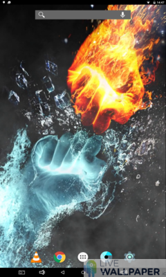 Fire and Ice Live Wallpaper - a cool phone wallpaper for Android - Screenshot #2