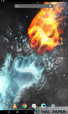 Fire and Ice Live Wallpaper - a cool phone wallpaper for Android - Screenshot #3