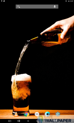 Beer Live Wallpaper - a cool phone wallpaper for Android - Screenshot #1