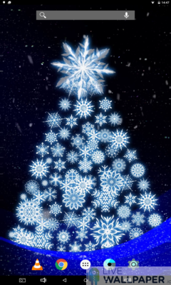 Artistic Christmas Tree Live Wallpaper - a cool phone wallpaper for Android - Screenshot #1