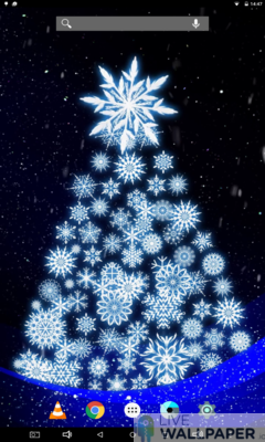 Artistic Christmas Tree Live Wallpaper - a cool phone wallpaper for Android - Screenshot #2