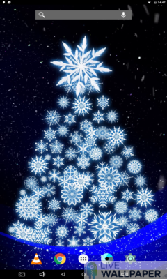 Artistic Christmas Tree Live Wallpaper - a cool phone wallpaper for Android - Screenshot #3